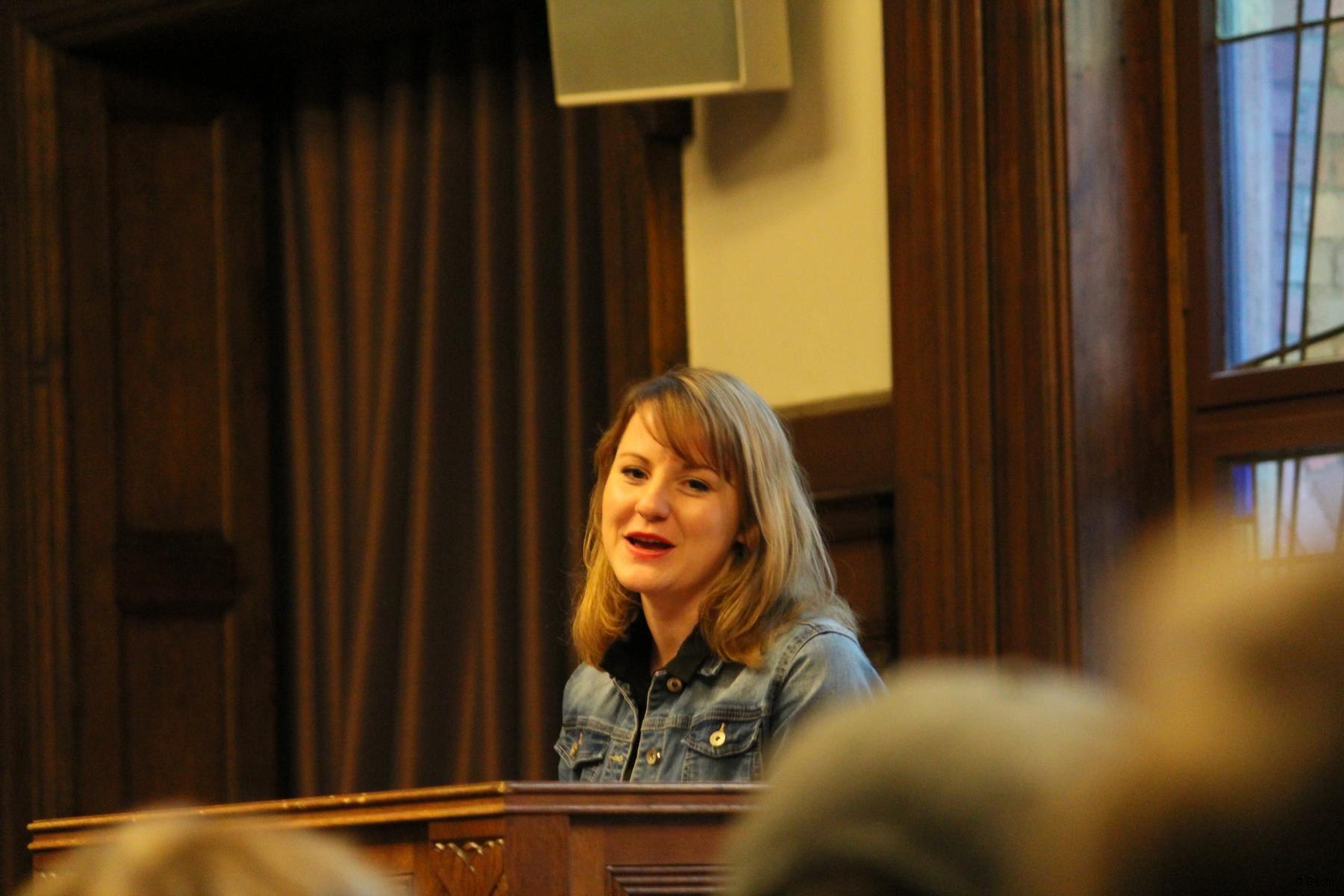 Annika eröffnet die Landesdelegiertenkonferenz